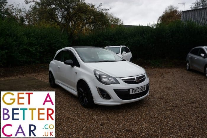 VAUXHALL CORSA 1.2 LIMITED EDITION (3 DOOR) – WHITE (2013)