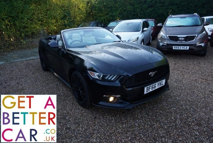 FORD MUSTANG 2.3 ECO BOOST CONVERTIBLE – AUTOMATIC – BLACK (2016)